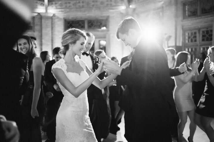 "The couple's elegant celebration was filled with dinner, drinks and a whole lot of dancing. ""We had a special performance of 'A Love Like This' by Wild Belle and danced the entire night away!"" Christina says."