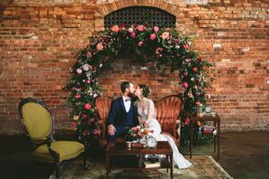 Circular Wedding Arch at The Old Cigar Warehouse in Greenville, South Carolina