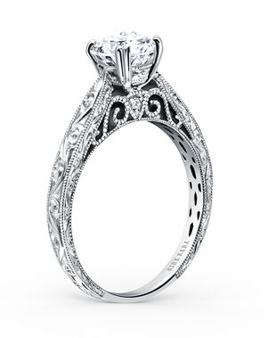 Kirk Kara Classic Round Cut Engagement Ring