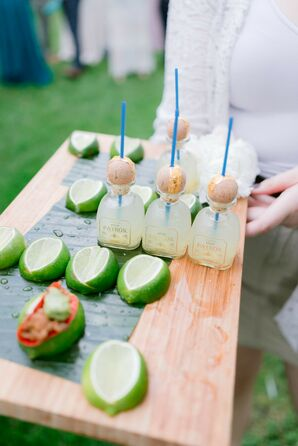 Tequila Shots During Cocktail Hour at Chesterwood Estate in Stockbridge, Massachusetts