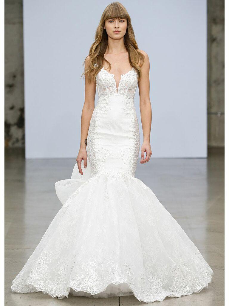 Pnina Tournai wedding dress lace mermaid gown