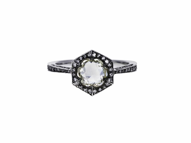Cathy Waterman rose cut engagement ring