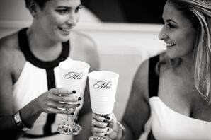 Personalized Wine Glasses for Brides