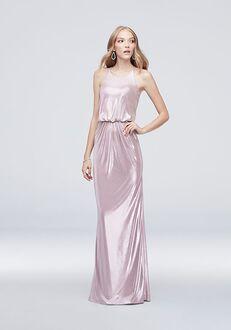 David's Bridal Collection DB STUDIO Style AP2E205056 Bateau Bridesmaid Dress