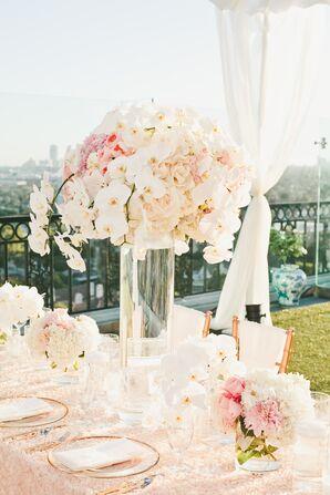 Romantic, Modern Orchid Centerpieces