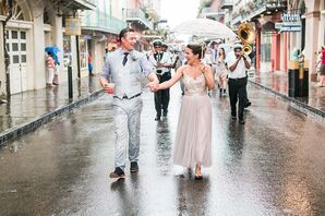 Blush Sequin, Lace BHLDN Wedding Dress