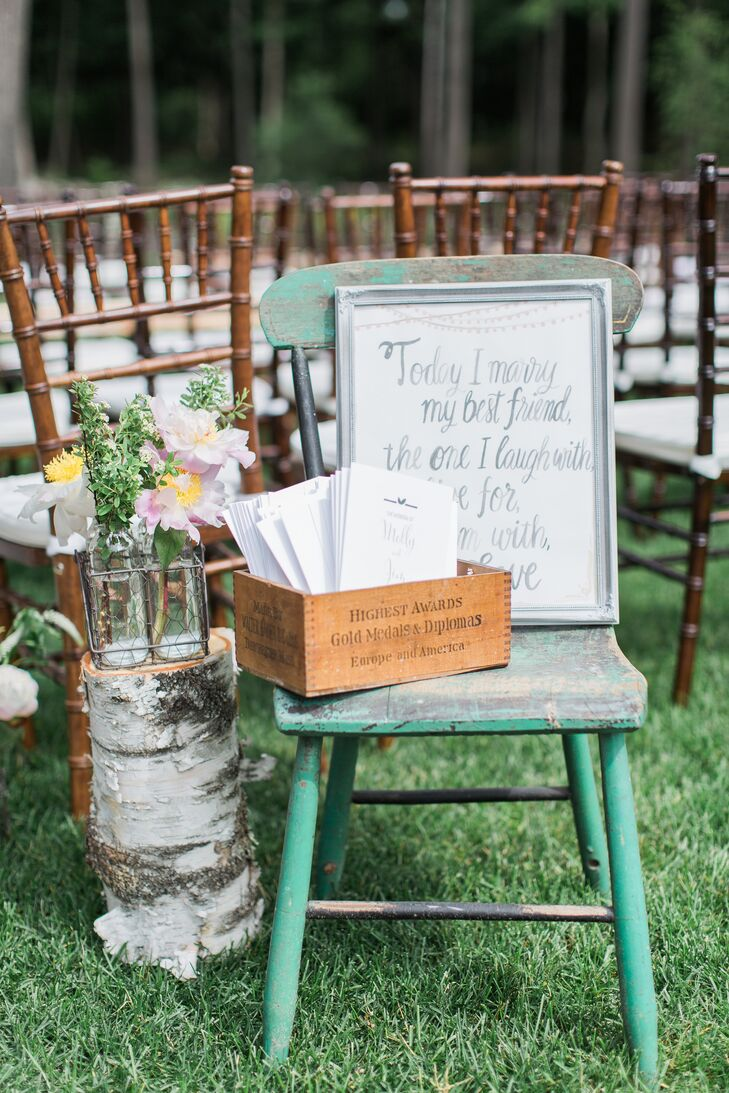 Rustic Ceremony Entrance Display