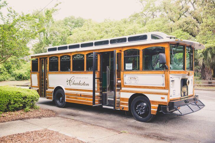 Charleston Trolley Wedding Party Transportation