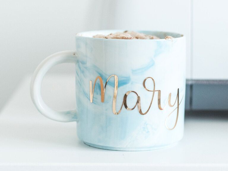 Marble personalized mug gift for sister-in-law