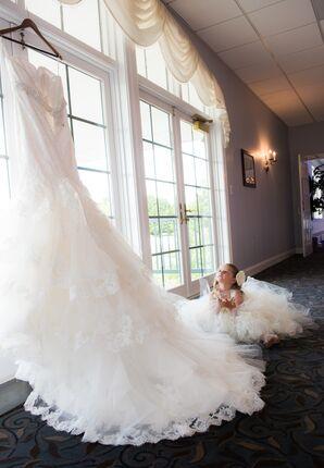 Flower Girl with Wedding Dress
