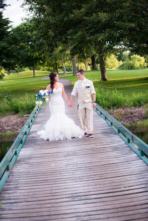 Strapless Maggie Sottero Mermaid Style Wedding Dress
