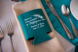 Custom Koozie Wedding Favors