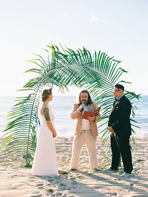 Beach Ceremony With Personalized Vows