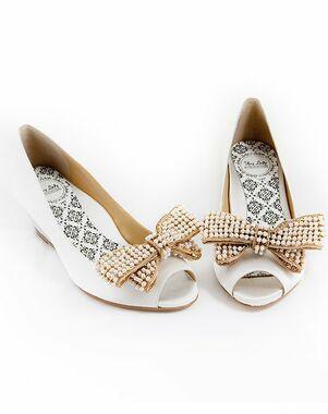 Hey Lady Shoes Peeptoe Wedgie w/big pearl bow Shoe