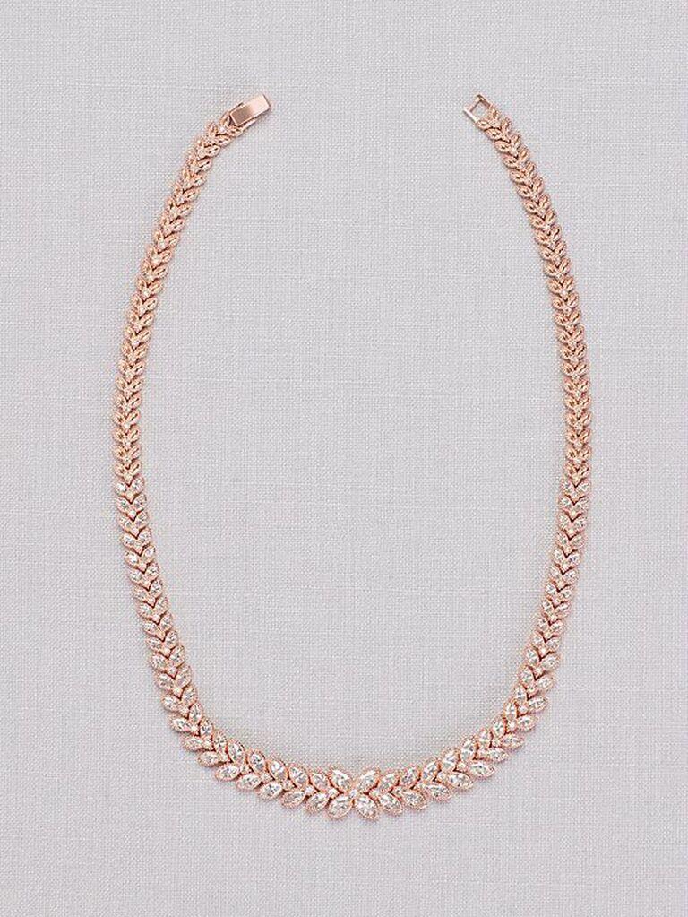 Rose gold vintage bridal necklace