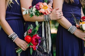 bridesmaids dresses/ accessotirs/ bouqs