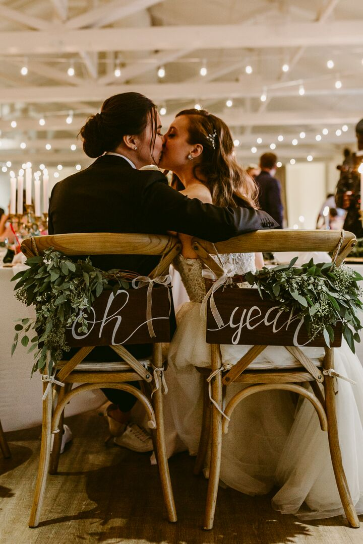 Rustic Bohemian Sweetheart Chair Signs
