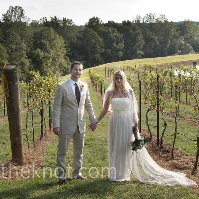 The Bride Erika Johnson, 25, a massage therapist The Groom Jimmy Eubanks, 32, an engineer at Harris Corp. The Date September 24  Bohemian chic was the