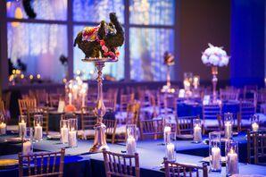 Indian Ballroom Reception with Purple Uplighting
