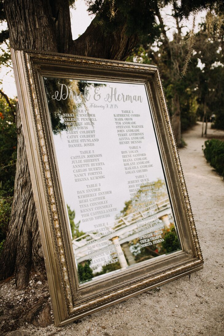 Framed Mirror Seating Chart