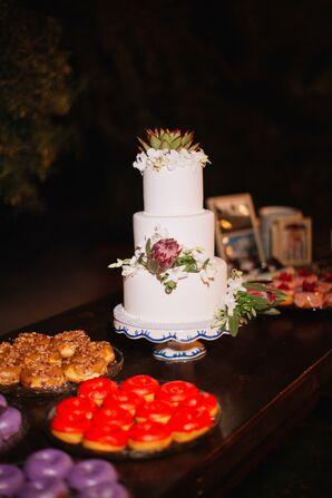 Fondant Wedding Cake with Succulents