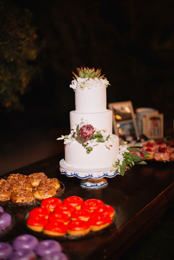 Fondant Wedding Cake with Succulents