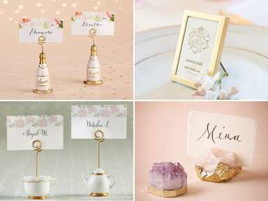 23 Place Card Holders for Your Wedding and Bridal Shower