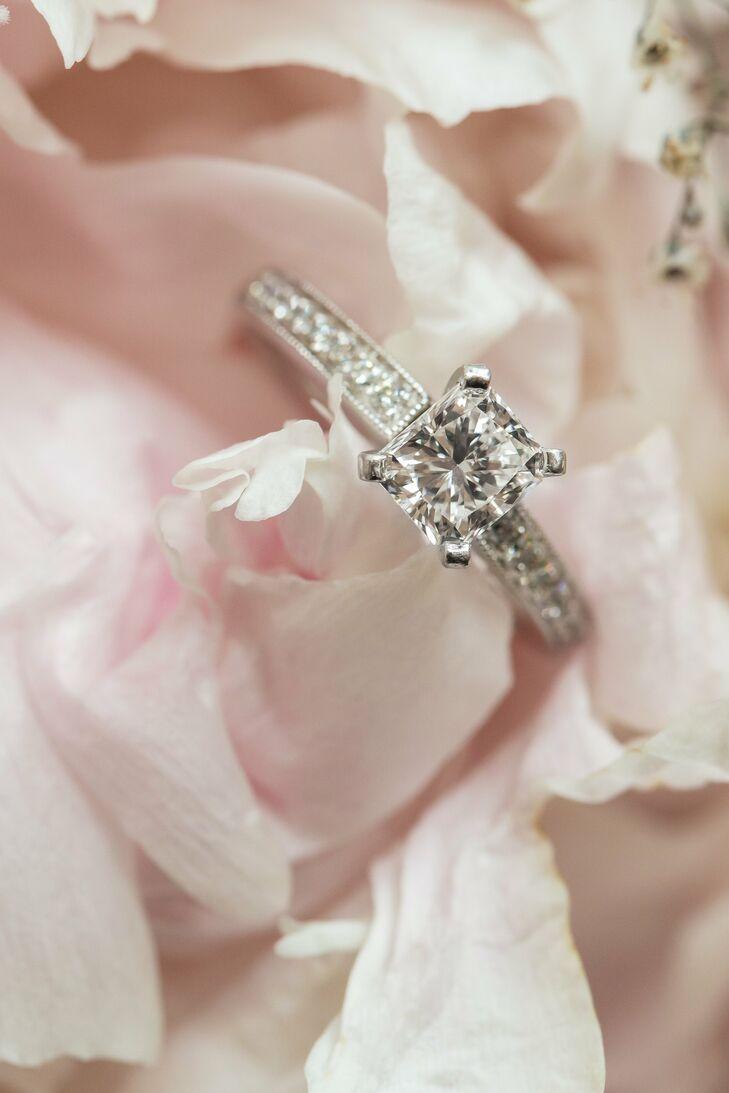 Traditional Princess Cut Engagement Ring