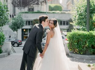 To honor their respective family traditions, Sirisha (30 and an investment analyst) and Justin (31 and a consultant) held two ceremonies followed by t