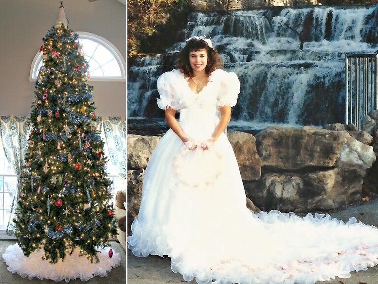Tree Skirt And Wedding Dress