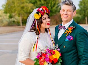 "The wedding of Jaclyn Guerra and Chase Beck drew inspiration from their date, which happened to fall on Dia de los Muertos (Day of the Dead). ""Not onl"
