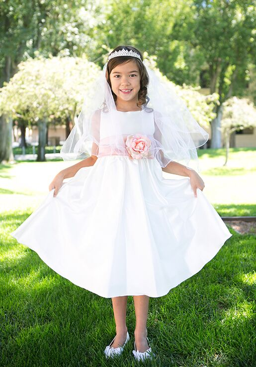 Kid's Dream 204 White,Ivory Flower Girl Dress