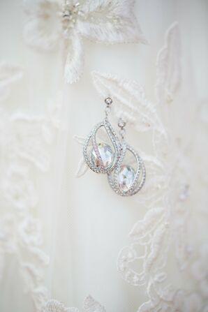 Swarovski Crystal Earrings for Destination Wedding Island Bride