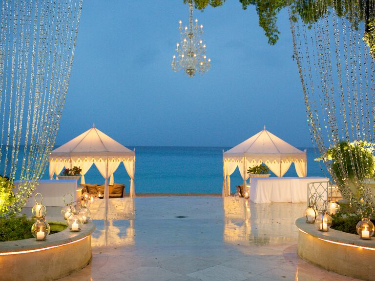 Barbados Destination Wedding Reception Cabana Lounges