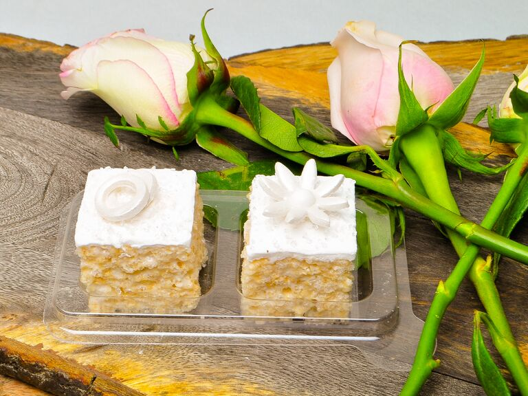 Rice Krispy wedding favor ideas