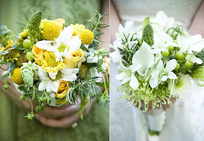 Rosemary accented bouquet