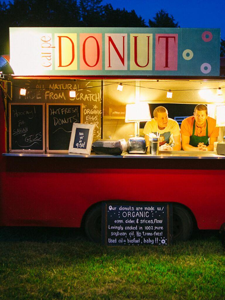 Donut food truck idea for a wedding reception
