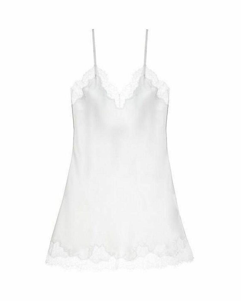 White bridal lingerie slip