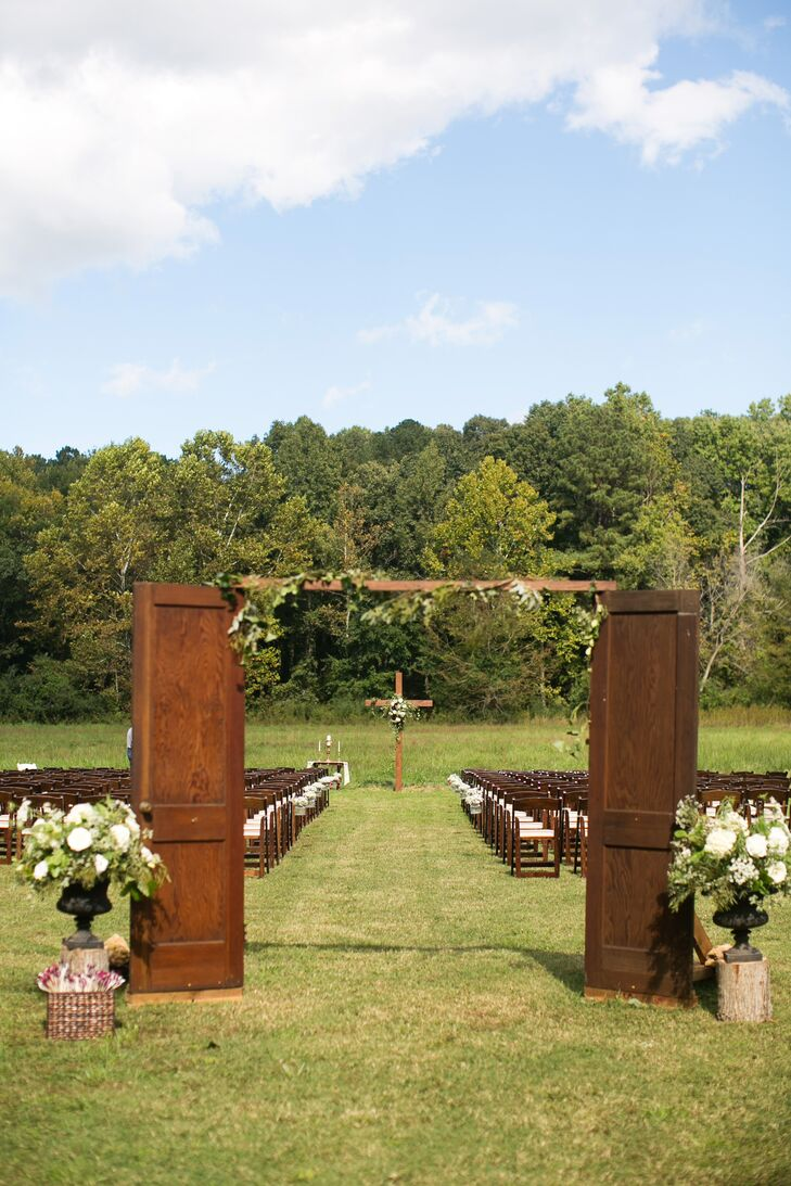 Rustic Ceremony at The Pavilion at Grave Haven