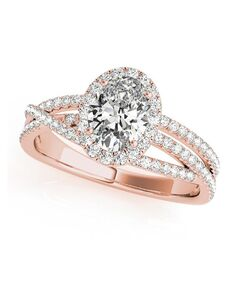 DiamondWish.com Glamorous Oval Cut Engagement Ring