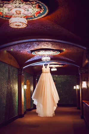Pale Pink Ball Gown Wedding Dress