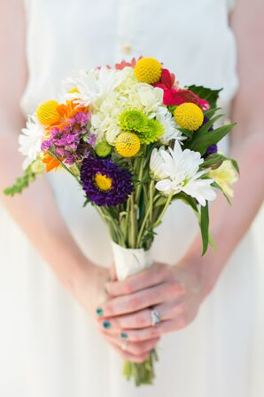 Colorful Mum, Billy Ball, Daisy Bouquet