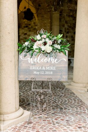Rustic Welcome Sign at Bella Collina in Florida
