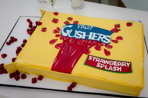 Special Gushers Candy Cake