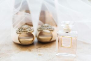 Badgley Mischka Wedding Shoes with Brooch Detail
