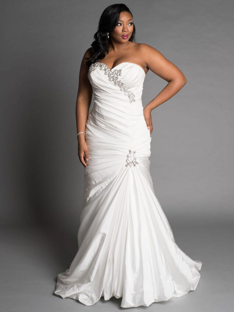 20 gorgeous plus size wedding dress youll love mermaid style plus size wedding dress junglespirit