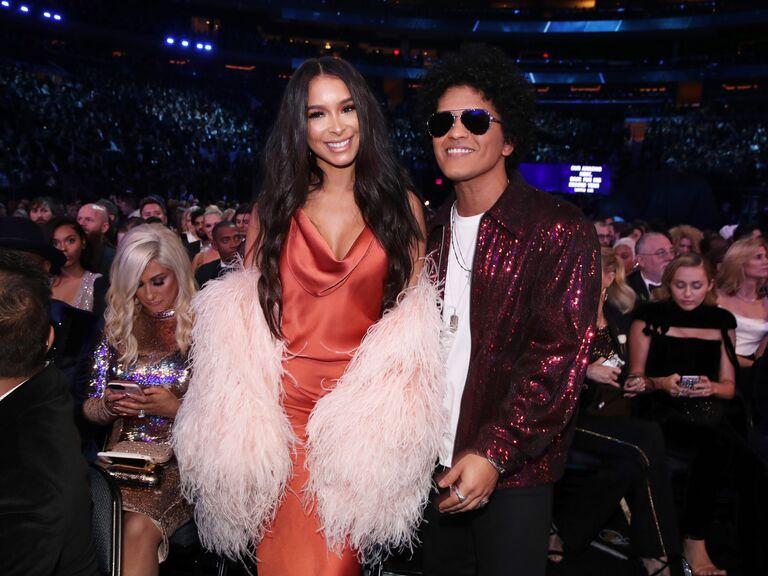 Bruno Mars and girlfriend Jessica Caban.