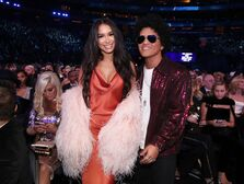Bruno Mars and girlfriend Jessica Caban.