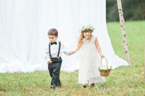 Lace Flower Girl Dress with Cowboy Boots