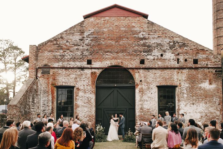 Rustic-Industrial Outdoor Ceremony at Georgia State Railroad Museum in Savannah